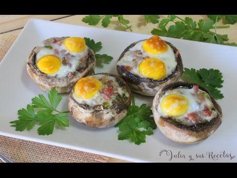 JULIA Y SUS RECETAS: Champiñones rellenos de huevos de codorniz