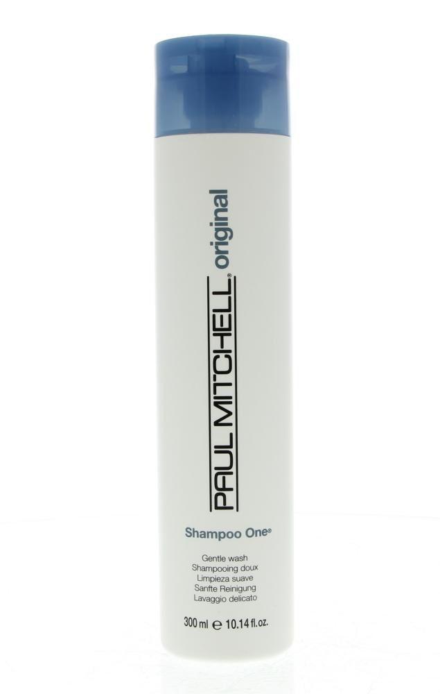 Paul Mitchell Original Shampoo One Alle Haartypen 300ml  Description: Paul Mitchell Original Shampoo One Gentle Wash.Voorzichtig reinigende shampoo voor een verbeterde beheersbaarheid.Voegt diepe glans toe en verbetert het uiterlijk van je haar. Het is uiterst mild waardoor het een uitstekende keuze is voor gekleurd haar.Panthenol en tarwe-afgeleide conditioners verbeteren de oppervlaktestructuur en beheersbaarheid.Algen aloë jojoba henna en rozemarijn voegen diepe glans toe. Color-safe…