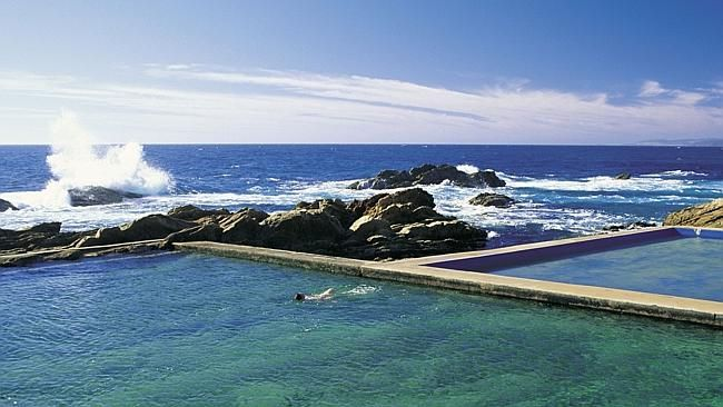 The blue pool at Bermagui on the NSW Sapphire Coast. Pic Tourism NSW