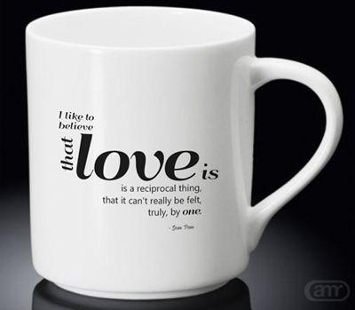 Sell Love quotes Sean Penn New Hot Mug White Mug cheap and best quality. *100% money back guarantee