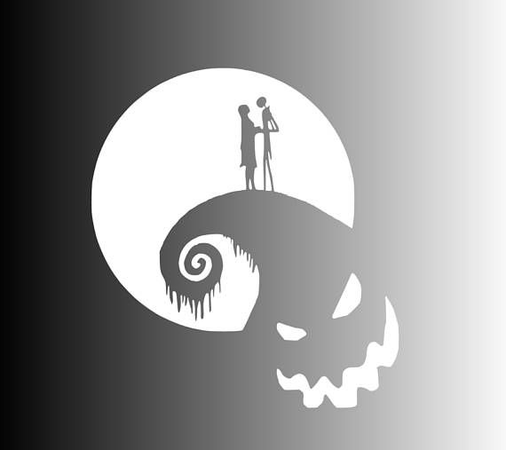 Nightmare Before Christmas I Vinyl Sticker Car Wall Poster Laptop Window Decal