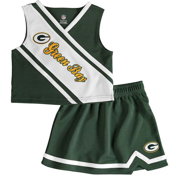 Green Bay Packers Preschool Girls 2-Piece Cheerleader Set - Green - $35.99