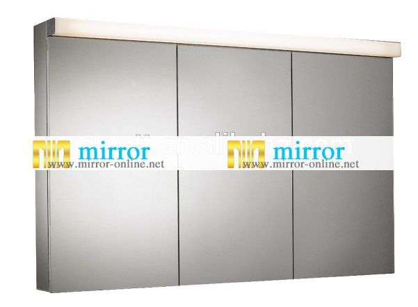 Music Bluetooth Bathroom Aluminium Medicine Cabinet Mirror Double Door With Glass Shelf And Switch Socket