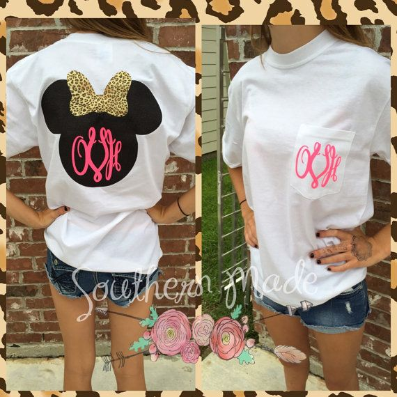 Minnie Mouse Monogrammed T shirt Minnie Head T shirt Customize your own Comfort Color or Gildan Shirt Mickey Mouse Head Disney World Shirt