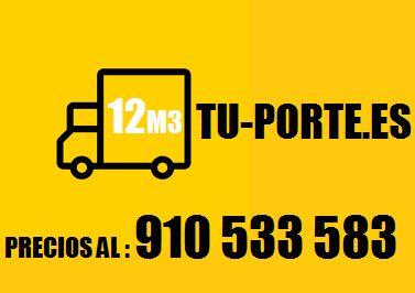 TU-PORTE 91Θ+533583(*FUENCARRAL*)  PRECIOS POR HORAS: DISPONIBILIDAD DEL 01 AL 15 DE CADA MES TUPORTE 12M3 + CHOFER = 30€/HRA TUPORTE 12M3 + 2 OPERARIOS=60€/HRA **SALIDA MINIMA 2 HORAS**  MINIMUDANZAS A PRECIOS CERRADOS(SEGÚN LISTADO DE COSAS A TRASLADAR)   INFO: 910+533583