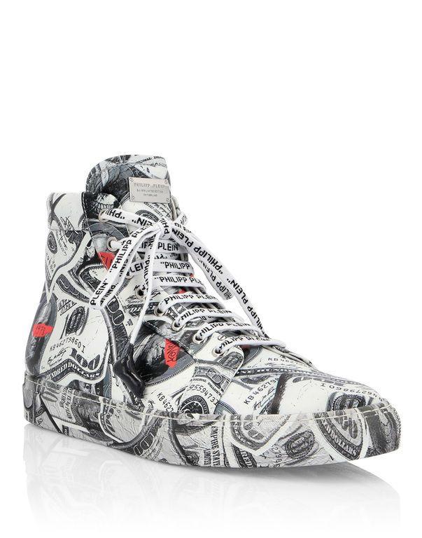 big sale da0d3 e0cde Philipp Plein - Hi-Top Sneakers Dollar
