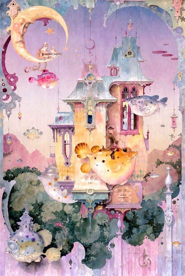 """Secrets Safe With Me"" ~ Daniel Merriam ~ Watercolorist Extraordinaire ~ Miks' Pics ""Daniel Merriam l"" board @ http://www.pinterest.com/msmgish/daniel-merriam-l/"