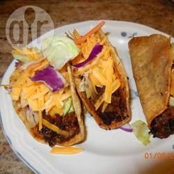 Tacos de carne moída @ allrecipes.com.br - Esses tacos com carne moída são gostosos e não levam pimenta. Para quem gosta de comida mexicana mas não curte pimenta...