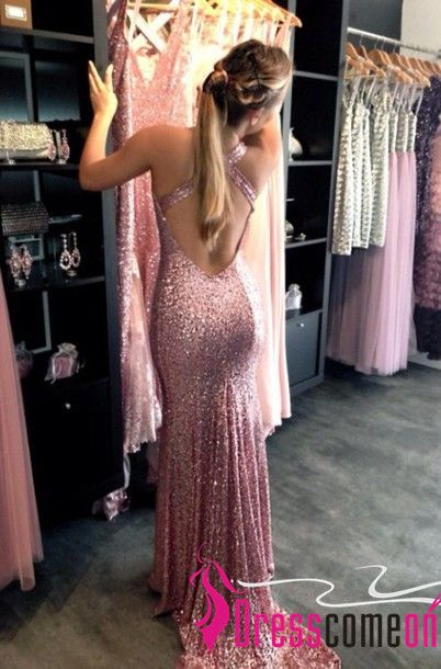 Backless Sequin Prom Dress 2017 Mermaid New Fashion Open Backs Sparkle Sequins Glitter Prom Dresses Gown