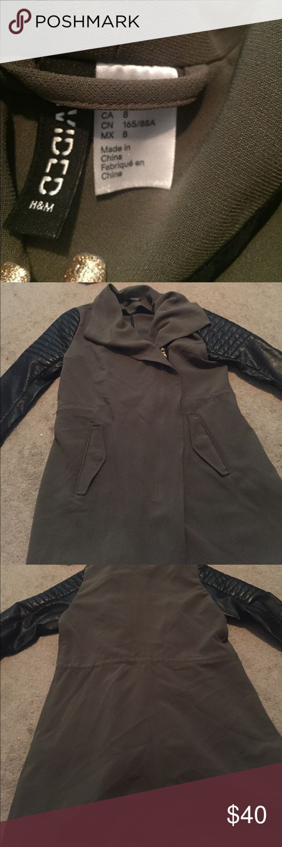 Dressy jacket from H&M Green &Black jacket H&M Jackets & Coats