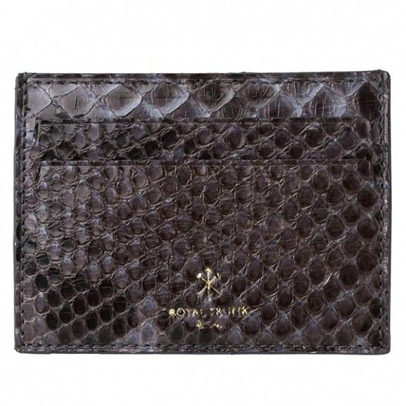 Royal Trunk Mens Cardholder Grey Python