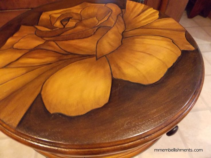 "Rose Stain ""painted"" Small Accent Table"