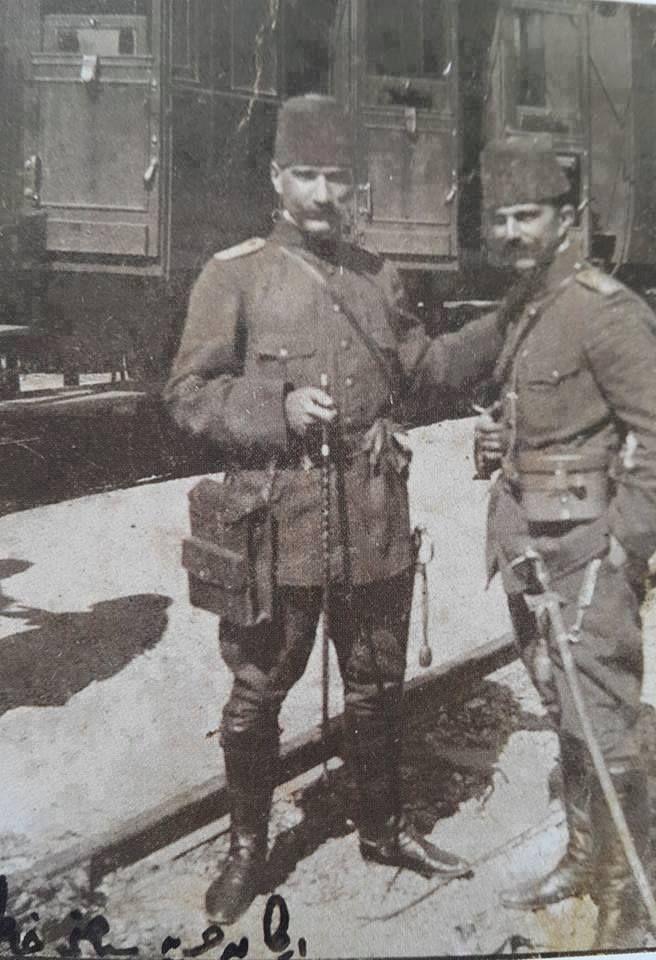 Tegmen İzzettin Bey ve Mustafa Kemal Atatürk Selanik 1911