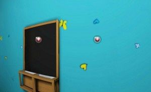 Blue walls blackboard for children bedroom by 3d house design software