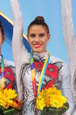 Lourdes Mohedano Sánchez de Mora (Córdoba) gimnasta rítmica española, bicampeona del mundo de 10 mazas