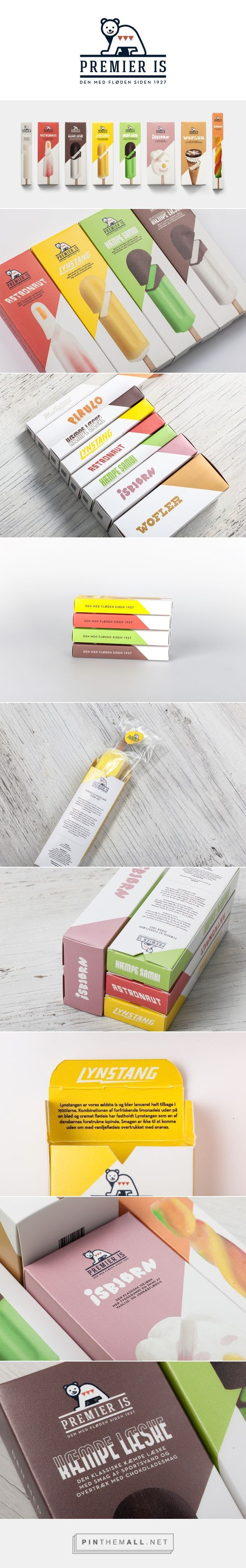 """Package design for ice cream company """"Premier Is"""" / School Project / Martin Klein:"""