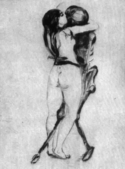 billyjane:Edward Munch ~ Death and the maiden,1894