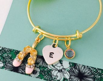 Young Girls Name Bracelet, Ballerina Bracelet, Personalized Girls Bracelet, Little Girls Bracelet, Young Girl Jewelry, Gold Bracelet,