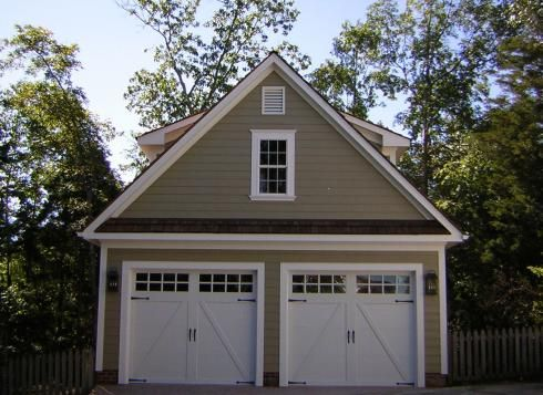 Beautiful 2 car garage with matching shed. Read more about this garage, http://www.casechester.com/blog/remodeling/two-car-garage-remodel/.