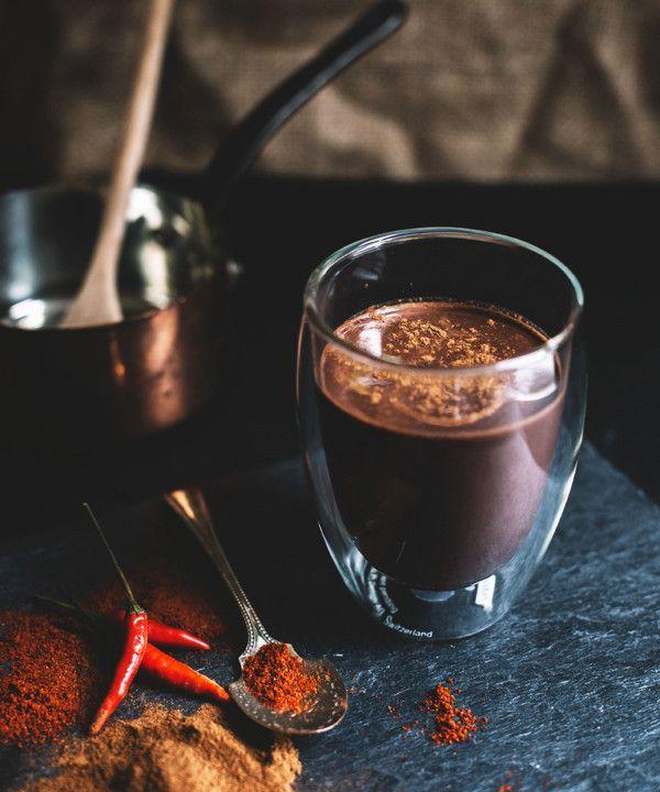Heiße Schokolade Kakao Rezepte Chili Cheesecake