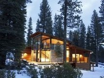 Glass Cabin in the Woods.
