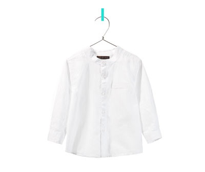 camisa cuello mao - Camisas - Bebé niño - Niños - ZARA México