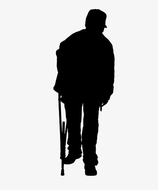 Lonely Elderly Crutches Back Sketches Of People People Png Old Man Walking