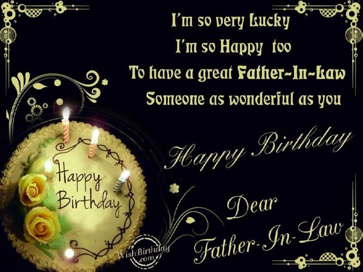 Happy Birthday  wishes quotes for father-in-law: i'm so very lucky