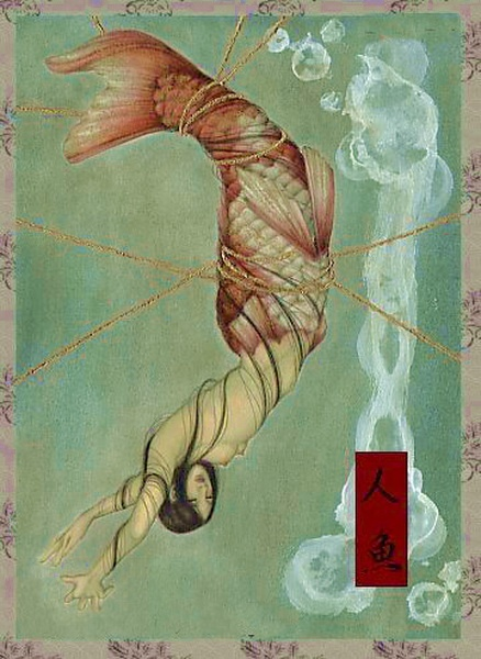'Demons' by Keuka (Kyouka) Hagihara ~ this is a really interesting mermaid... I think that the 'demons' are the fishermen that are trying to capture her....
