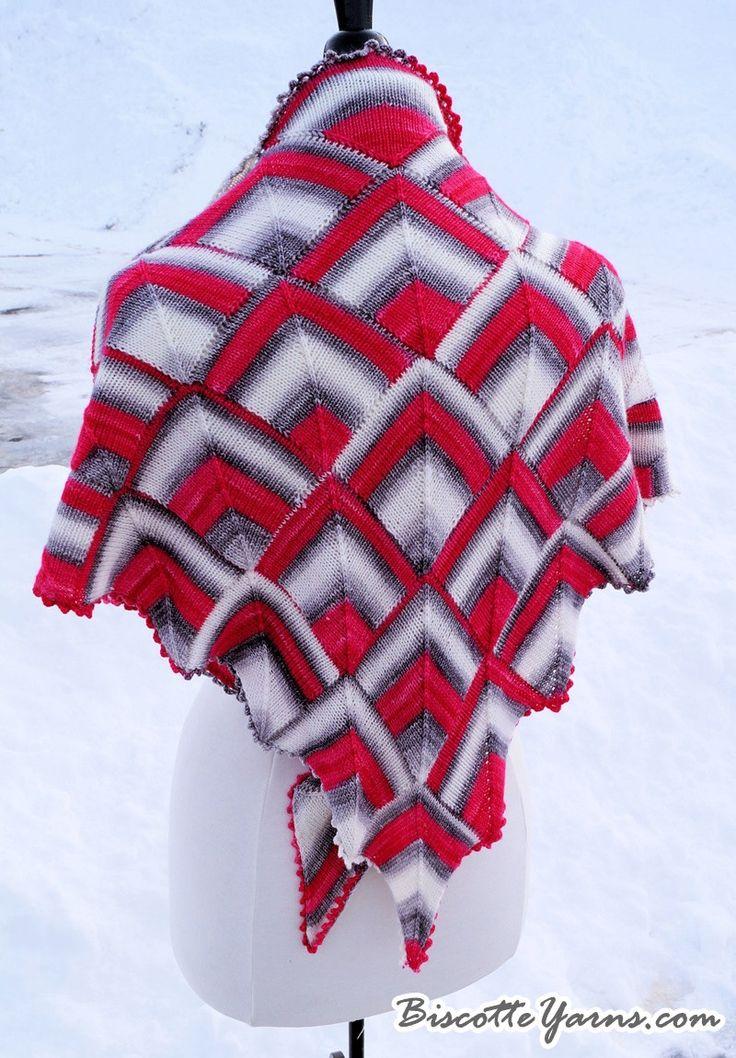 Shawl pattern Diamonds Are a Girl's Best Friend - Biscotte yarns  - 2
