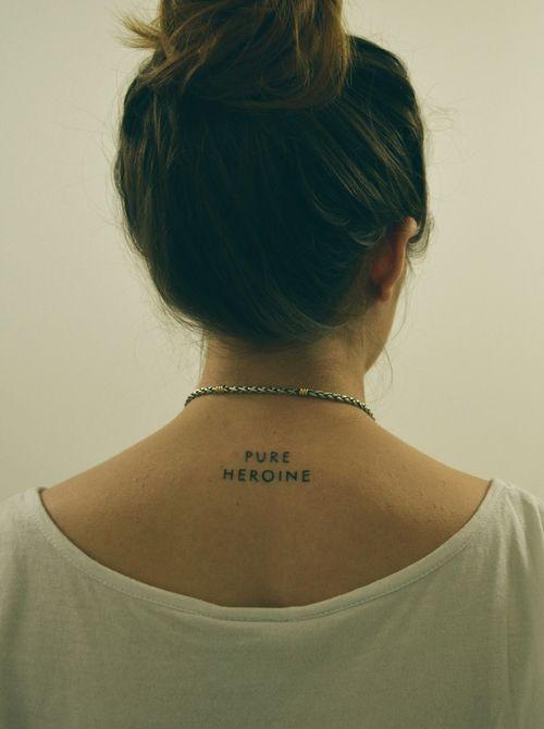 lorde tattoo, pure heroine tattoo