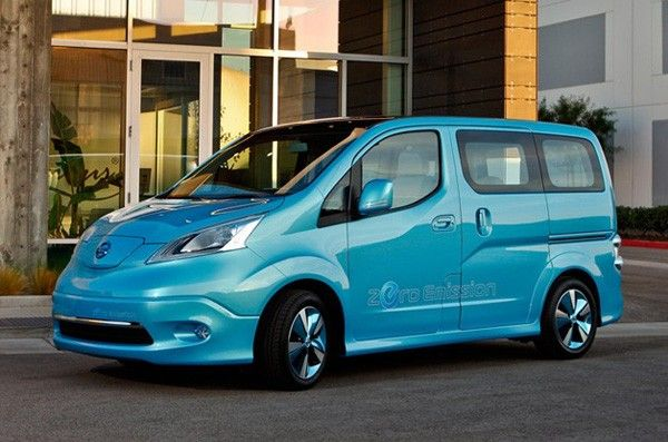 Molires in electric blue bi-material and pink insoles, from FLORIS VAN BOMMEL. Click to see the full styling.: Electric Van, Electric Vehicles, Car, Nissan Announces, Vans, E Nv200 Electric