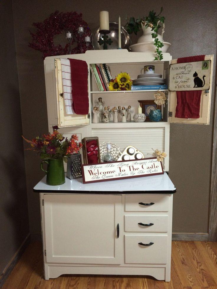 Country hooiser cabinet makeover - 417 Best Hoosiers Images On Pinterest Antique Furniture, Cook