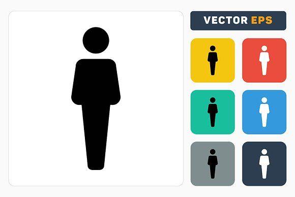 Male Symbol Vector Female Symbol Person Icon Vector