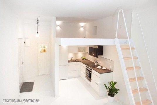 Clean white cityhome in under 25m2/ Puhtaan valkoinen citykoti alle 25 neliössä #tehoneliöt