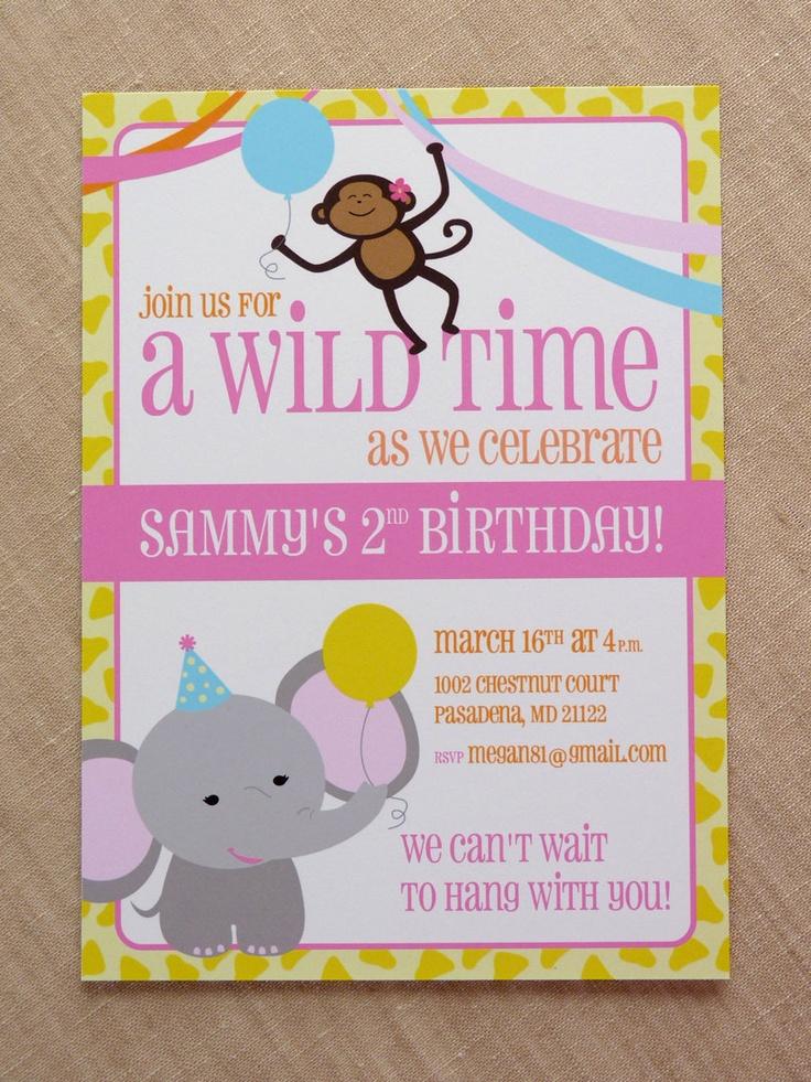 Personalized Zoo Party Invitation / Printable Party Invitation. $14.50, via Etsy.