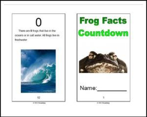 """FREE LESSON – """"Frog Facts Countdown Booklet and SMART Board Book"""" - Go to The Best of Teacher Entrepreneurs for this and hundreds of free lessons. 2nd - 3rd Grade  #FreeLesson  http://thebestofteacherentrepreneursmarketingcooperative.net/free-misc-lesson-frog-facts-countdown-booklet-and-smart-board-book/"""