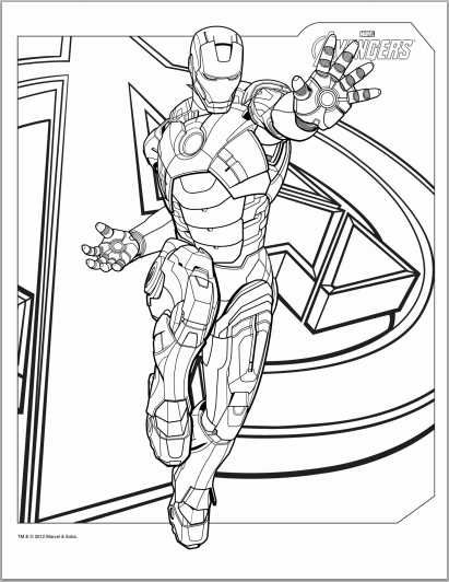 The Avengers Iron Man Coloring Page