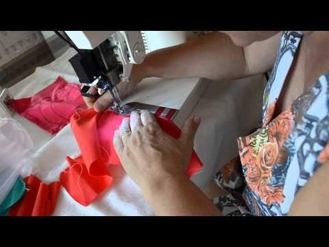 DIY : Como fazer barra de lenço em tecido reto e godê - Aula 40 - YouTube