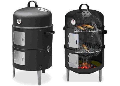 Smoker II φούρνος για καπνιστά μαύρος ανοξείδωτος