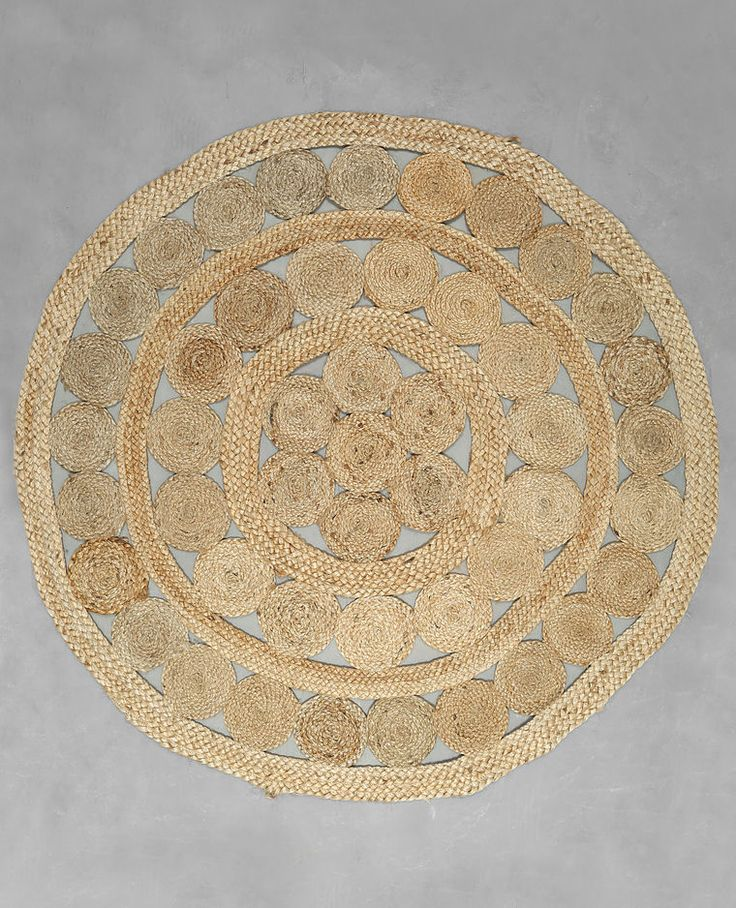 tapis rond jute beige taupe - Tapis Rond Color