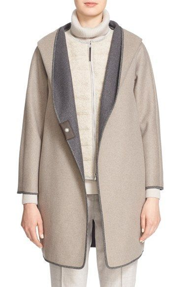 Fabiana Filippi Hooded Flannel Coat