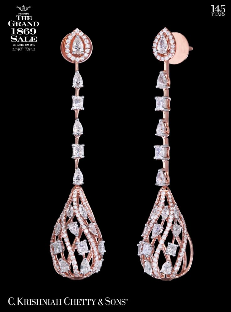 5 days left! C. Krishniah Chetty & Sons™ celebrates The Grand 1869 Sale till Sunday,24th May 2015. Call 40001869 for more details. Get 9% OFF on this Diamond Chandelier...
