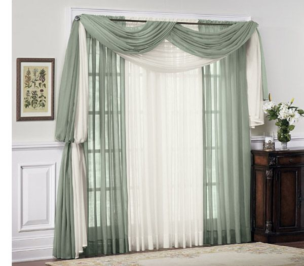 Solid Sheer Voile Collection (HRVP001) Home Curtain And Panel   China  Rod Pocket