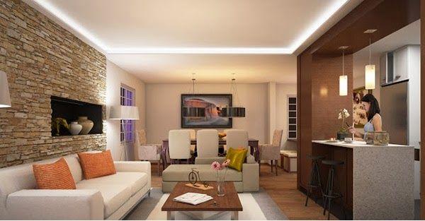 D coration salon avec des murs en briques d coration for Brique interieur decorative