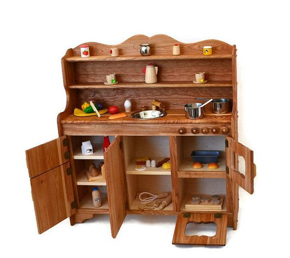 Waldorf Wooden Toy Kitchen-Hardwood Play by AToymakersDaughter