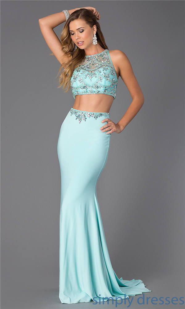 17  images about two piece long prom dresses on Pinterest - Blush ...