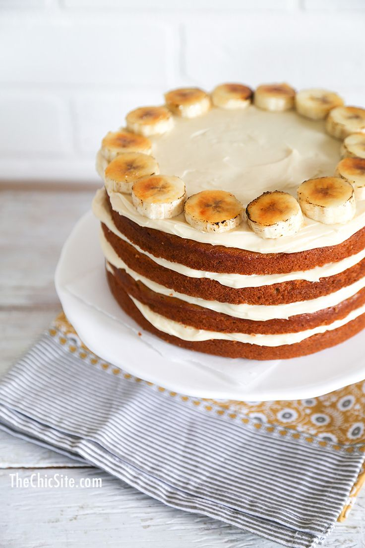 Banana Cake With Cream Cheese Frosting X