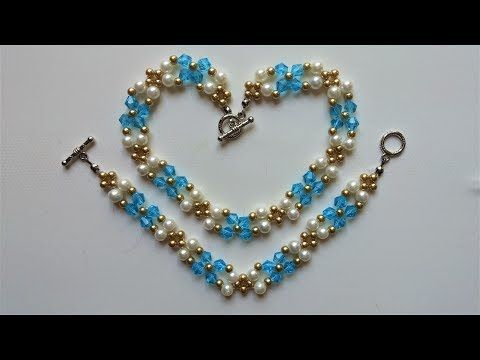 # DIY - Pulsera fácil con arroces gigantes y cristalitos - YouTube