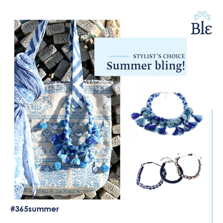 The new Ble Jewellery collection is here! And what do we find this season? Gorgeous blue hues and super-pretty tassels in necklaces that stop-traffic and bracelets you do not want to take off! Discover your new favourite summer pieces here http://www.ble-shop.com/jewelery.html and here http://www.ble-shop.com/bags.html #BleSummerAhead #blingbling